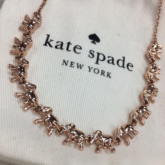 6e76ccbe36c04 Kate Spade Things We Love Elephant Necklace w/ Bag